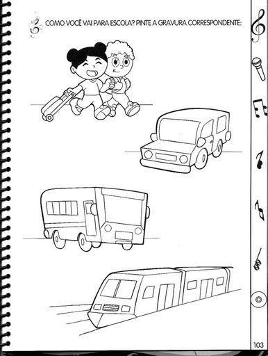 Nestas atividades pré-escolar Meios de Transporte você vai encontrar palavras cruzadas, imagens para colorir, seguir os pontos, atividades de raciocínio...