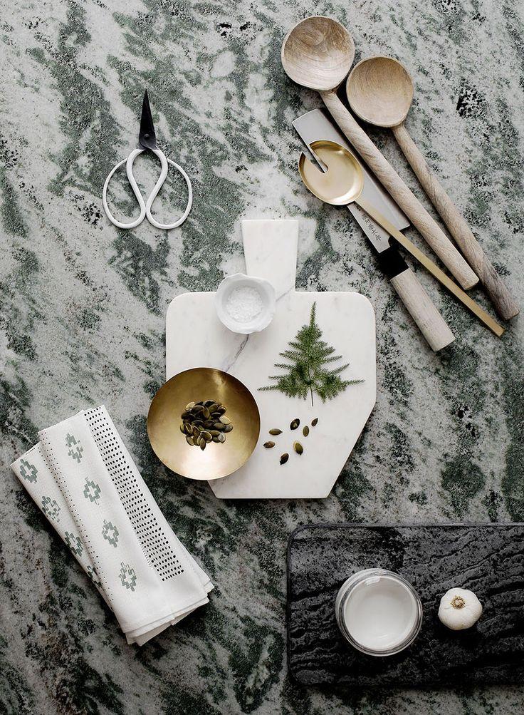 Kolmårdsmarmor i köket   Photo & Styling Daniella Witte för Elle Decoration