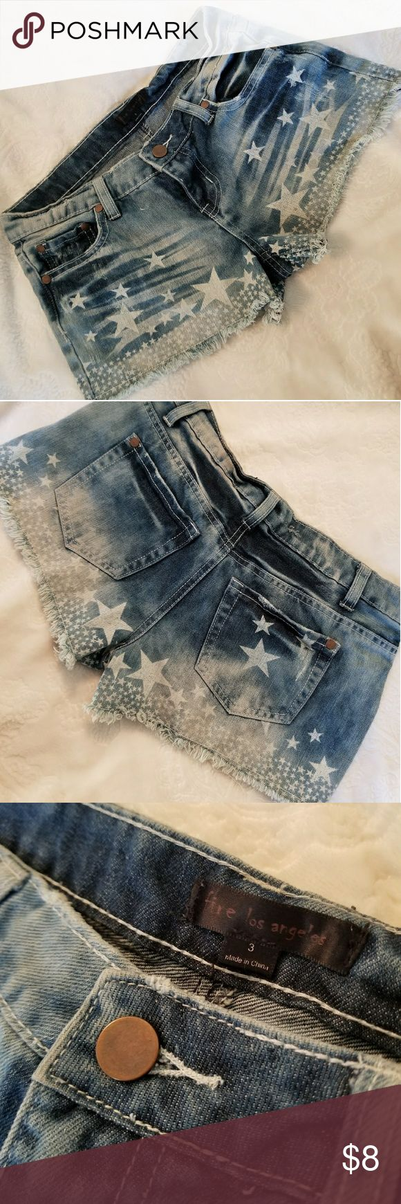 Faded Cutoff Jean Shorts Faded Cutoff Jean Shorts (says size 3, however fit like a 2) Perfect for 4th of July!🎆 Fire Los Angeles Shorts Jean Shorts