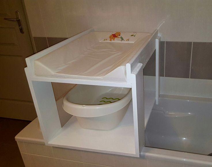 Table à langer baignoire