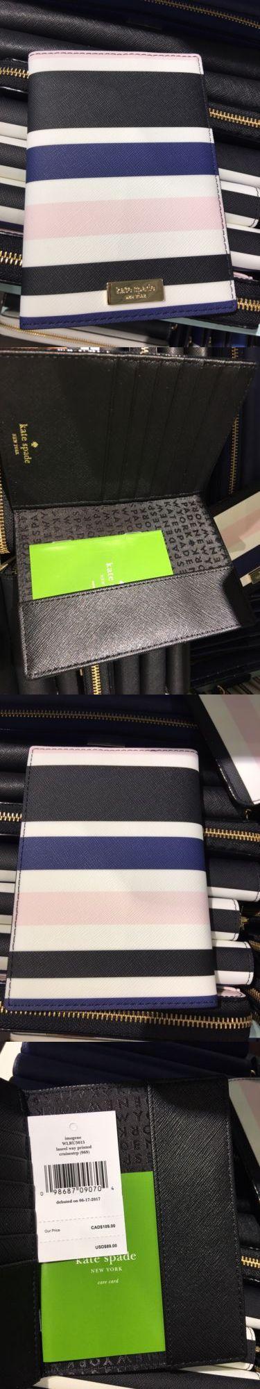 Passport Holders 169288: Nwt Kaye Spade Imogene Laurel Way Cruisestrp Printed Passport Holder Wallet $89 -> BUY IT NOW ONLY: $45 on eBay!