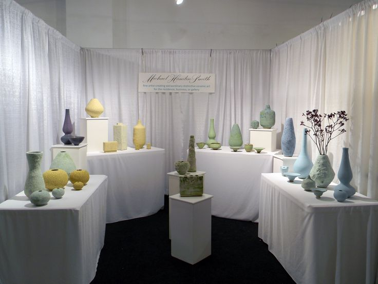 Michael Hamlin Pottery  Booth display
