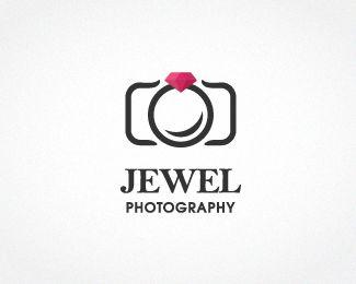 Jewel photography Logo design - A logo that's suitable for a female wedding and portrait photographer.My inspiration is jewel rind on camera. Price $600.00