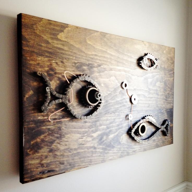 Wood And Metal Art