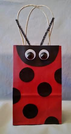 Ladybug Favor Bags Set of 12 di LetsPartyFavors su Etsy
