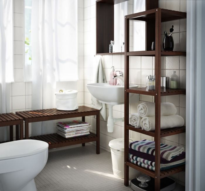 El almacenaje abierto en el ba o es muy til para tener a mano lo que usas m s a menudo ideas - Muebles de cuarto de bano de segunda mano ...
