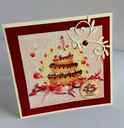 Happy Birthday Age 12 13 15 Card Front by Audrey Wilson
