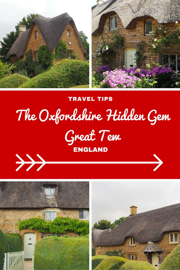 England Travel Inspiration - Looking for a hidden gem in The Cotswolds then a visit to Great Tew in Oxfordshire is just what you're after. Close to the beautiful town of Chipping Norton and the Bicester Shopping Village, the honey thatched cottages will make you have kittens as they're perfect. Don't miss out on this Cotswolds travel gem! Click the link to read my Oxfordshire Travel Tips!