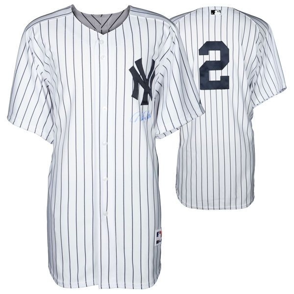 Derek Jeter New York Yankees Steiner Sports Autographed Majestic Authentic Pinstripe Jersey Signature on Front - $1299.99
