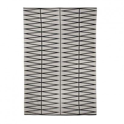 Teppich, Grau/Schwarz, bedruckt, 140 x 200cm - Bloomingville | SCHÖNER WOHNEN | SCHÖNER WOHNEN