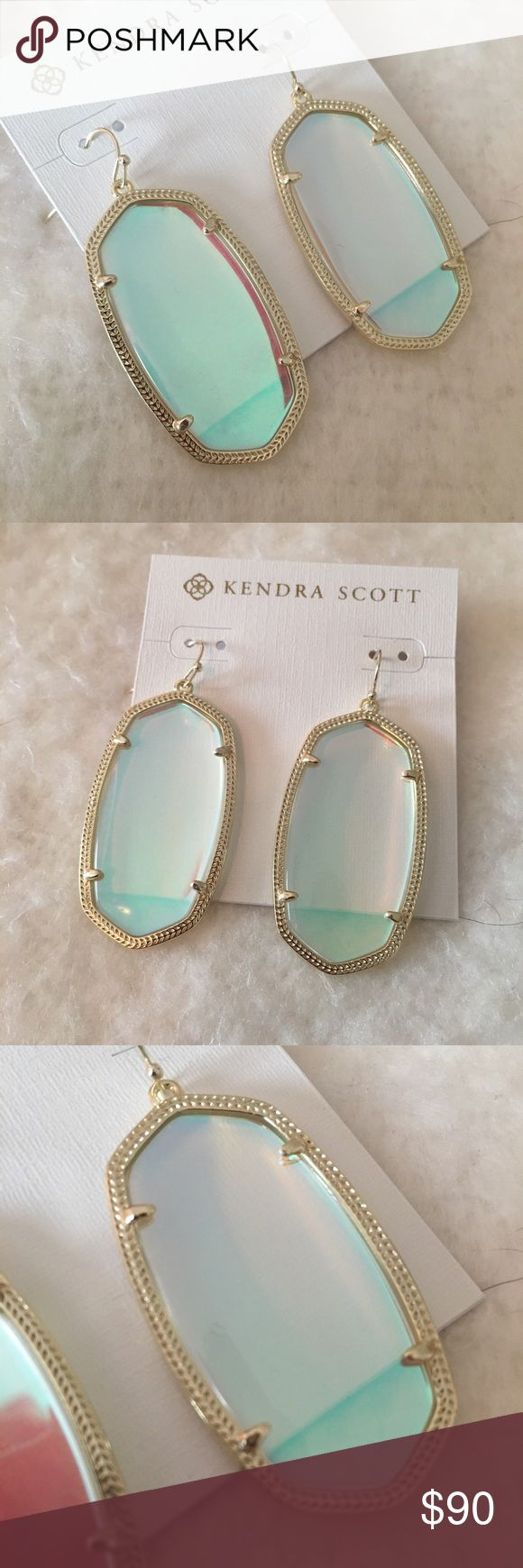 NWT Kendra Scott Danielle Dichroic Glass Earrings Rare! These are brand new and never worn. Comes with pouch & box. Kendra Scott Jewelry Earrings