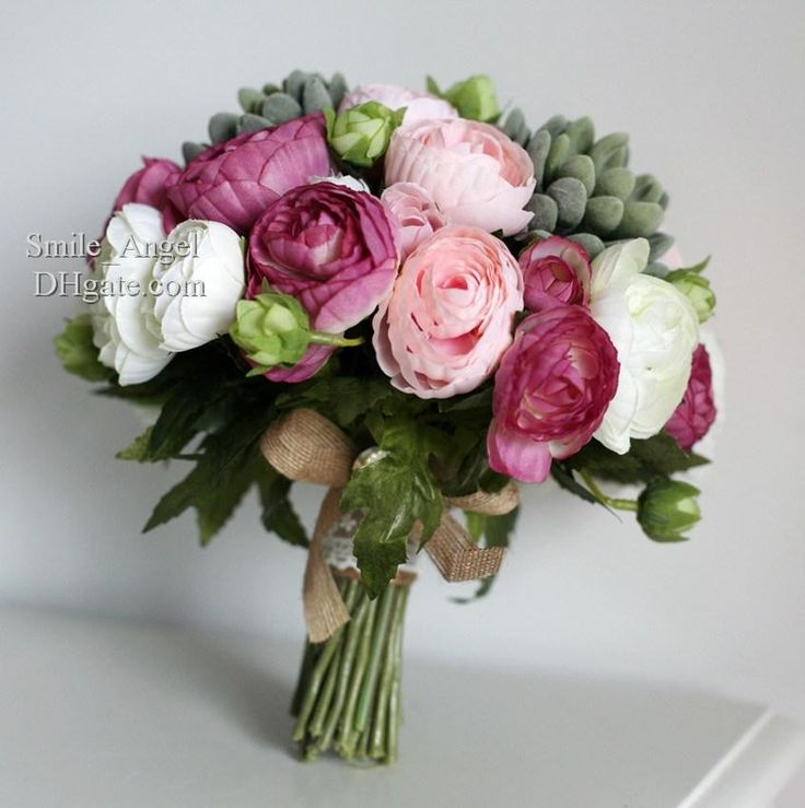 Wholesale Bridal Bouquets - Buy New Wedding Bridal Bouquets Purple White Flowers Handmade Artifical Bridal Bouquet Flowers Wedding Favors Wholesale Dropship, $33.24   DHgate