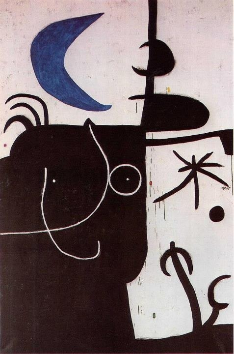 Miro = Woman before the luna, 1974