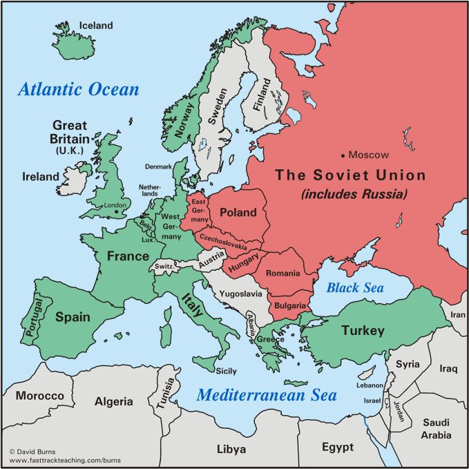 Europe After World War II | Maps and ... | World War II, World war, War