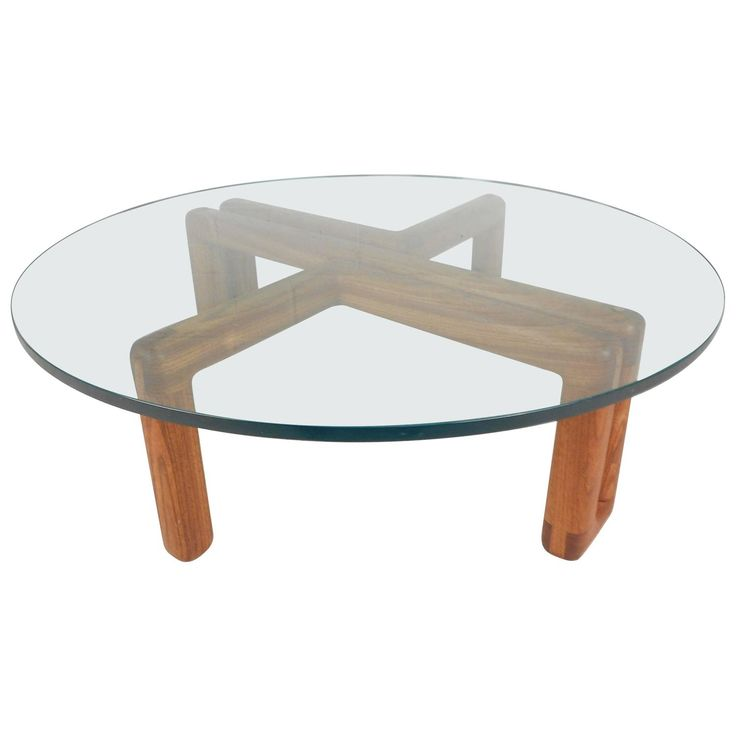 Superior Mid Century Modern Round Glass Coffee Table
