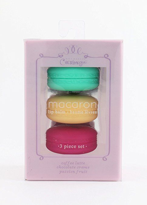 AmazonSmile: CHERIMOYA Macaron Lip Balm 3 piece set Cute with Box (3021): Health & Personal Care