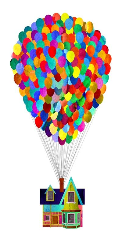 Disney's UP House  by Foreverwars fingerprint balloons