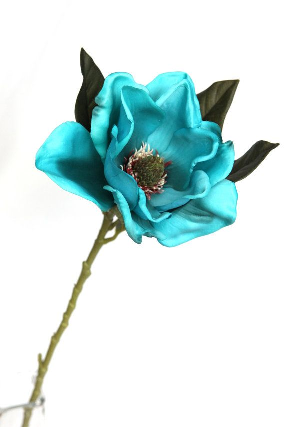 9 best taras flower images on pinterest silk flowers peony and wholesale 6 29 inch silk magnolia spray in turquoise silk flowers artificial mightylinksfo