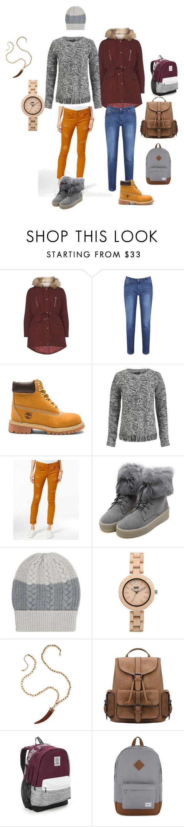 """""""CANDA shopping fall16"""" by meanixee on Polyvore featuring Dorothy Perkins, Brakeburn, Timberland, VILA, Dollhouse, WithChic, FAY, WeWood, Victoria's Secret and Herschel Supply Co."""