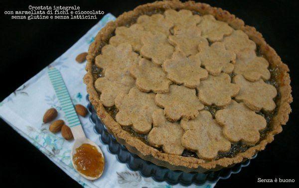 Crostata integrale con farine naturali senza glutine e senza latticini