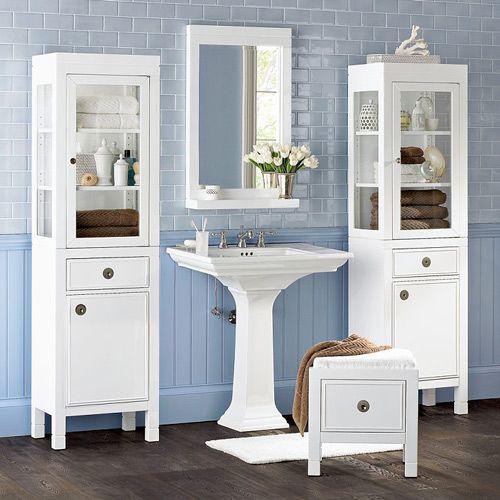 blue and white bathrooms | white bathroom furniture designs