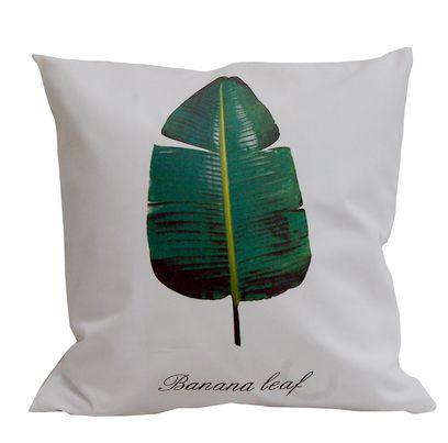 poszewka z liściem bananowca