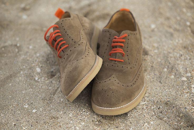 The Colours of Summer | Suede Francesina with dovetail ➤ https://www.angelonardelli.it/prodotto/francesina-scamosciata-con-coda-di-rondine/  #AngeloNardelli #menswear #shoes #madeinitaly