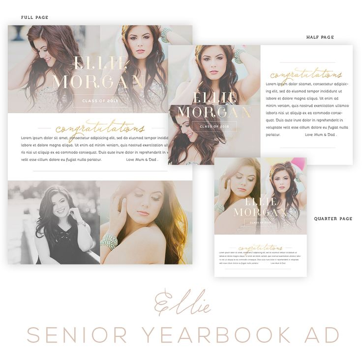 1000 images about senior year on pinterest for Free yearbook ad templates