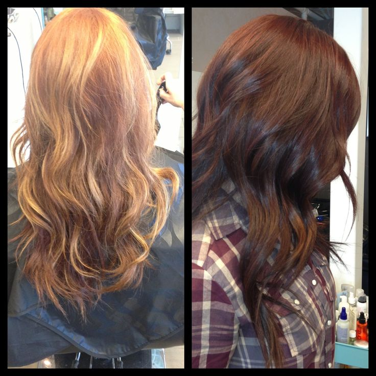 Hair Color Before And After Turned Out Lovely