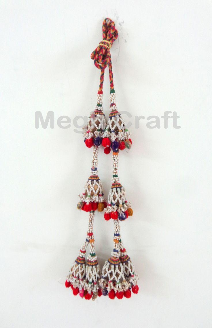 Vintage Beaded Pom Pom Waist-Belts -Indian Tribal Vintage banjara Waist-Belts  BY #CraftsOfGujarat #craftnfashion #meghcraft #indianethnicjewery