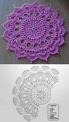 Another pretty doily, with chart