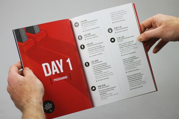 Conference Branding Collateral London By James West Via Behance