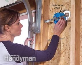 Installing a Remote Motion Detector for Lighting: Fasten the junction boxes in place http://www.familyhandyman.com/electrical/wiring-switches/installing-a-remote-motion-detector-for-lighting/view-all
