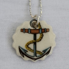 Iggy & Lou Lou Coloured Anchor Charm Necklace