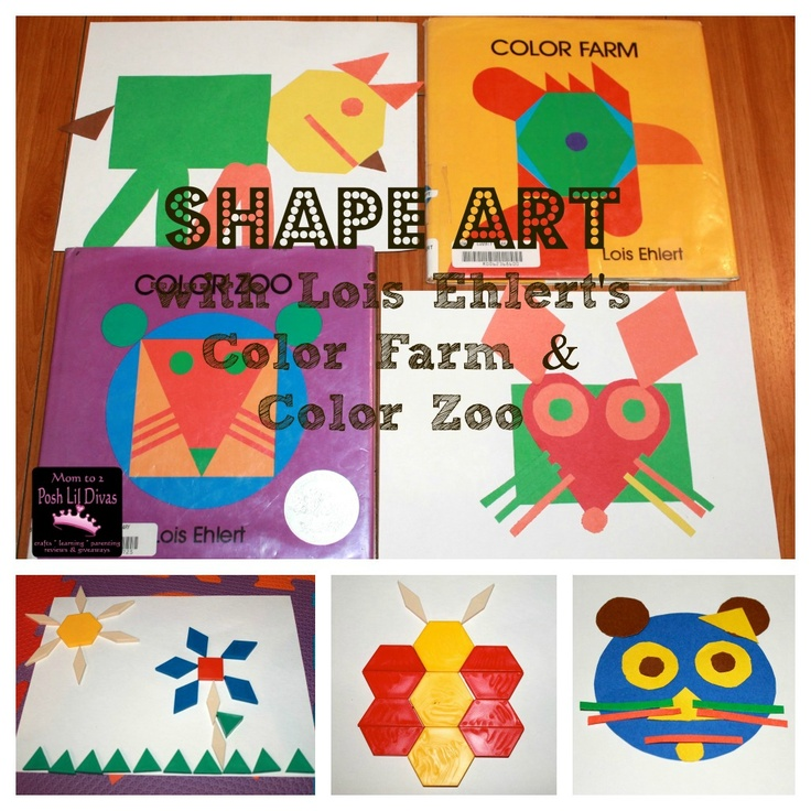 Mom to 2 Posh Lil Divas: Exploring Shapes and Colors with Color Farm and Color Zoo by Lois Ehlert (Virtual Book Club for Kids): Book Club, Color Farm, Lois Ehlert, For Kids, Posh Lil, Ehlert Virtual, Exploring Shapes, Lil Divas