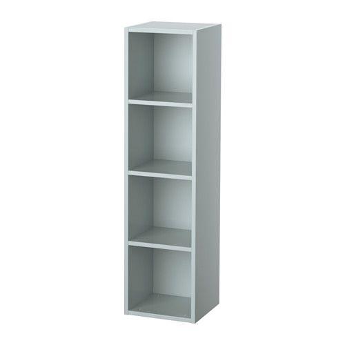 IKEA - APELVIKEN, Shelf unit, green-blue, , Choose whether you want to mount it horizontally or vertically.