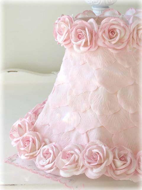interesting pale pink cake