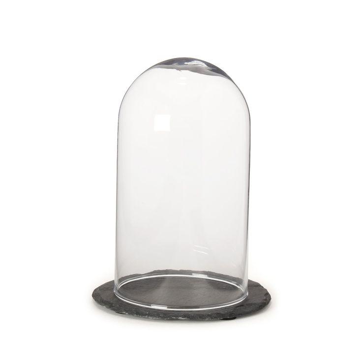 Cloche décorative en ciment et verre gris brugge les objets décoratifs vases et