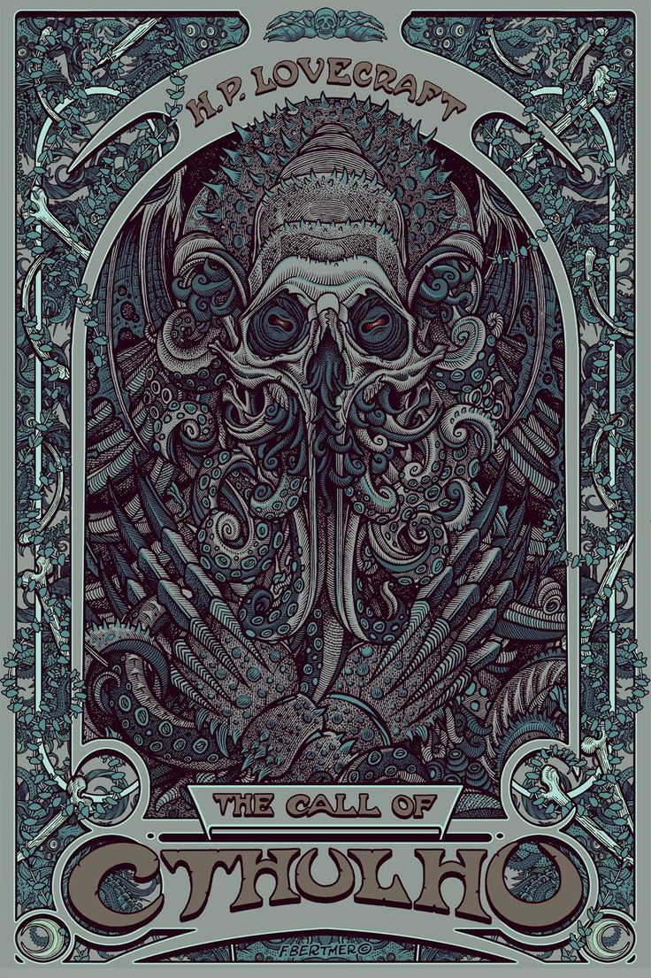 The Call of Cthulhu, Steel Blue Construction poster by Florian Bertmer.