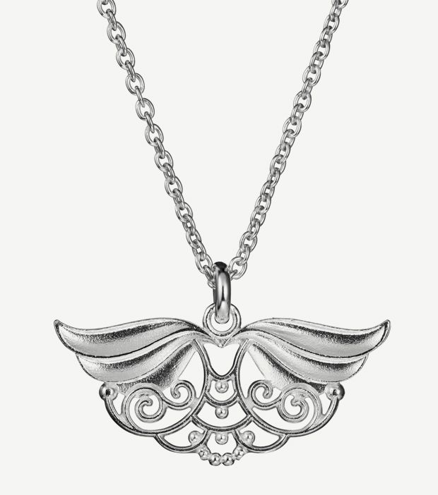 """Lumoava Serafina"" (quote) pendant made of sterling silver Finnish design by Carina Blomqvist Made in Finland by saurum.fi"