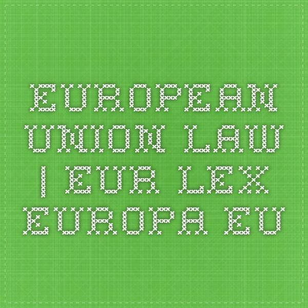 European Union Law | Eur-Lex.Europa.eu