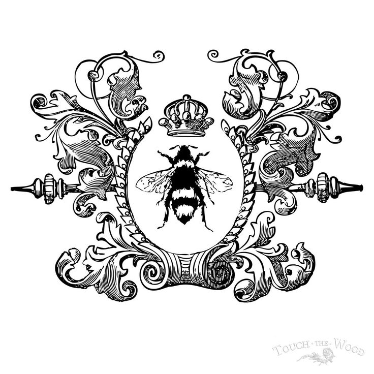 http://touchthewood.co.uk/product/print-transfer-furniture-wood-vintage-queen-bee-wreath/