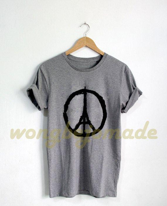 Pray for Paris Shirt PrayForParis French T Shirt by Wongbejomade