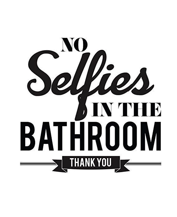 Amazon Com Typography Bathroom Unframed Wall Art Pictures Set