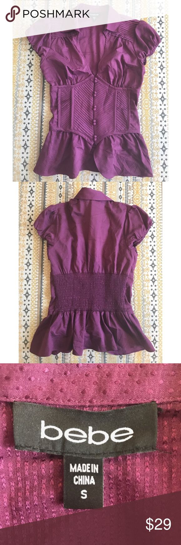 FINAL PRICE REDUCTION NWOT Bebe Top Beautiful and form fitting! Perfect condition! bebe Tops Blouses