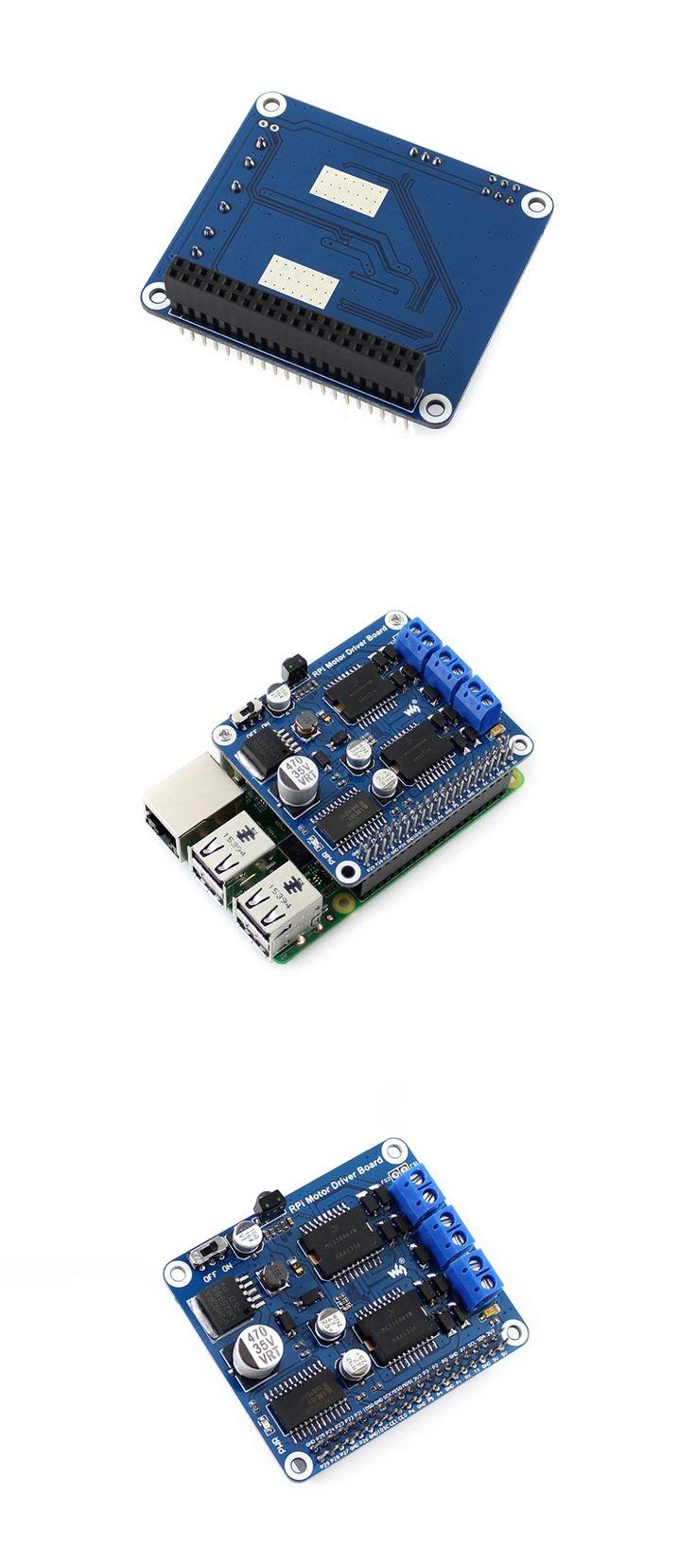 Waveshare RPi Motor Driver Board Raspberry Pi A+/B+/2B/3B Expansion DC Motor Board for DIY Mobil Robot / Stepper Motor Driver