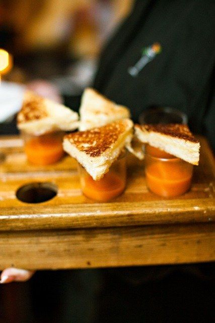 Grilled Cheese and Tomato Soup Shooters | 17 Drunk Foods That Make Amazing Wedding Snacks