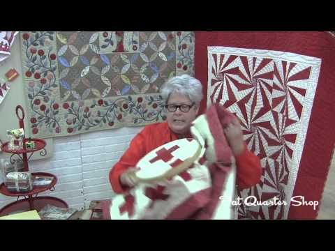 Minick and Simpson Show How to Big Stitch Hand Quilt - Fat Quarter Shop - YouTube