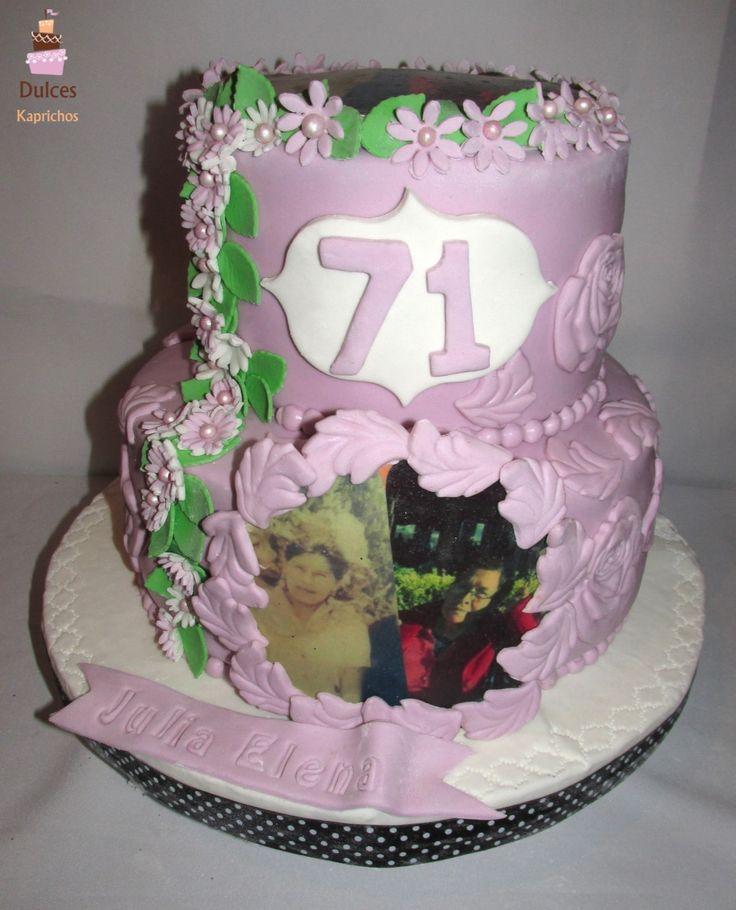Torta Cumpleaños Adulto #TortaCumpleañosAdulto #TortasDecoradas #DulcesKaprichos