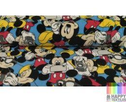 Online disney fleece mickey mouse stof kopen? Bestel nu bij Happy Textiles!